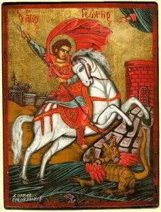 San Jorge mató a un dragón, ojalá se llevara a los políticos...