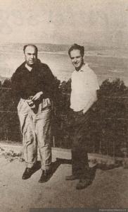 Jorge Edwards y Pablo Neruda.