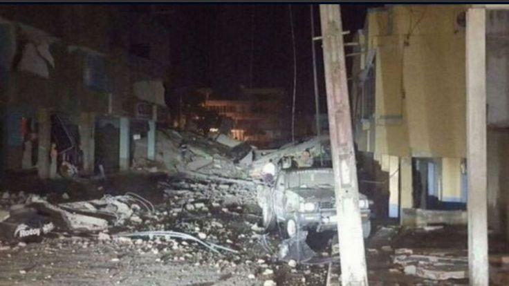 Imagen de Twitter sobre los destrozos del terremoto.
